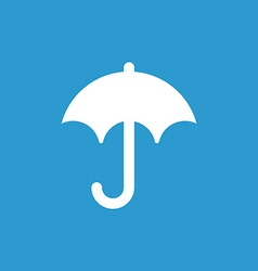 umbrella icon white on the blue background vector image