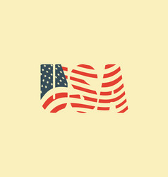 usa letters in colors american flag vector image