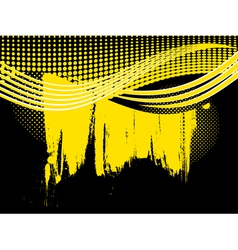 Abstract retro yellow wave background vector image