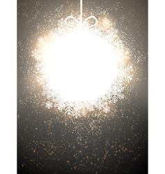 Christmas paper ball vector image