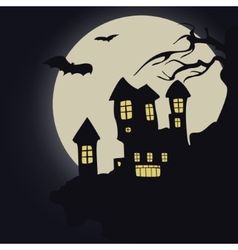Dark castle Halloween vector image