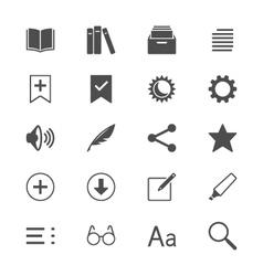 E-book reader flat icons vector image vector image