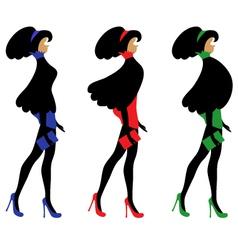 fashionable women vector image vector image