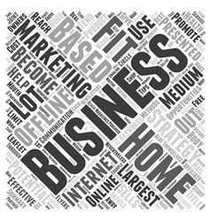 Home Based Business Offline Marketing Strategies vector image vector image