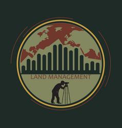 Logo land management vector
