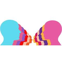 male female couples vector image vector image