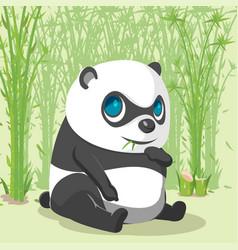 panda baby cute cartoon character vector image vector image