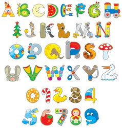 Toy font vector image