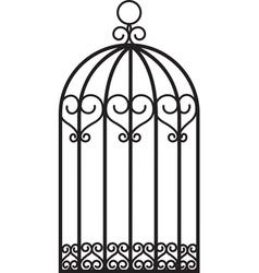 antique bird cage vector image
