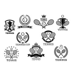 icons for tennis club tournament awards vector image vector image
