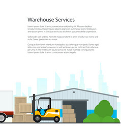 poster warehouse services vector image vector image