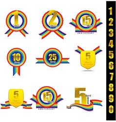 Rainbow Anniversary 001 vector image