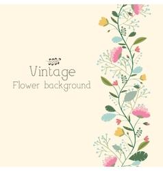 Retro flower background concept vector