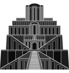 stencil of ziggurat vector image vector image