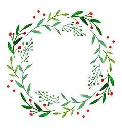 Watercolor wreath vector
