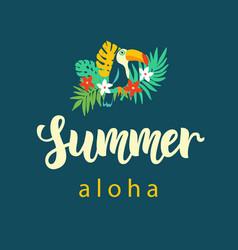 aloha summer modern poster design vector image vector image