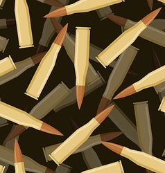 Bullets 3d seamless pattern Texture of military vector image
