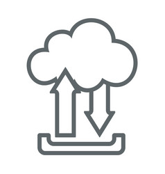 cloud upload download flat icon sign logo vector image