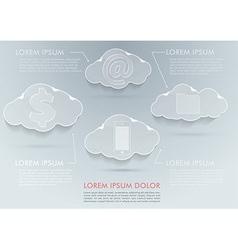 New technologies - cloud computing advantages vector image