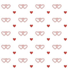 Seamless pattern with double hearts vector image vector image