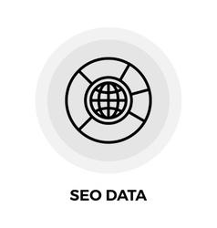 SEO Data Line Icon vector image vector image