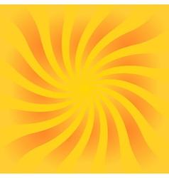 Yellow orange rays poster vector image vector image