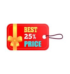 best 25 price red sticker on vector image