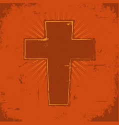 christian cross vector image
