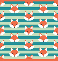 cute cartoon foxes vector image vector image