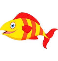 cute fish cartoon vector image vector image