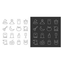 halloween party thin line editable stroke icon vector image