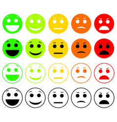 set of emoticons emoji level rank load vector image vector image