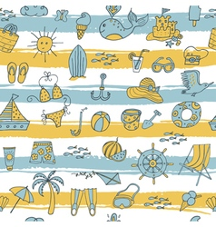 summer pattern with strieps vector image vector image
