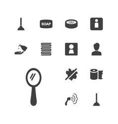 13 bathroom icons vector