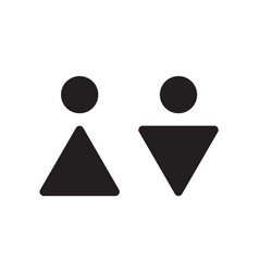 abstract male and female wc icons restroom vector image