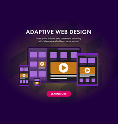 Adaptive and scalable responsive web design vector