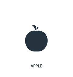 Apple icon simple gardening element symbol vector