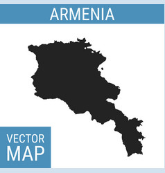 Armenia map with title vector