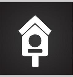 birdhouse on black background vector image