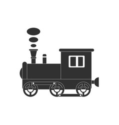 Black icon on white background kids train vector