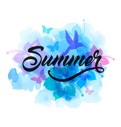 blue abstract summer tropical background vector image
