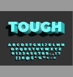 bold 3d font strong typography retro style vector image