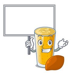 Bring board lassi mango in a cartoon glass vector