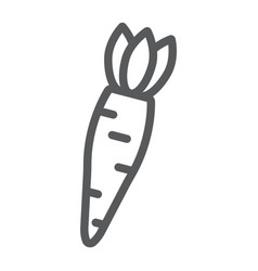 carrot line icon vegetable and diet vegetarian vector image