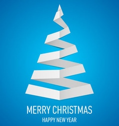 Christmas tree made of folded paper origami 15 vector image