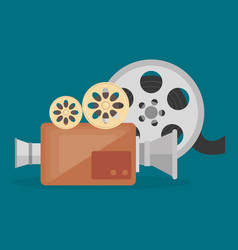 Cinema camera film entertainment icon vector
