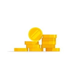 Coins stack icon flat pile vector