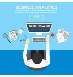 concepts for business statistics and analytics vector image