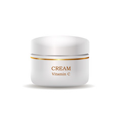 Cosmetic cream in glossy plastic tube vector
