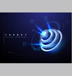 darts target in futuristic style success business vector image